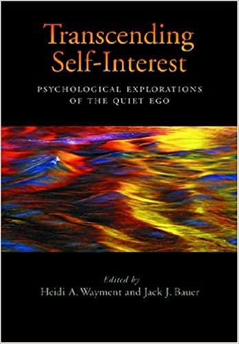 Transcending Self-Interest- Psychological Explorations of the Quiet Ego
